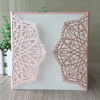 Wholesale dinner invitation card for sale - Group buy 50PCS Hollow Laser Cut Beautiful Card With Wedding Invitation New Year Party Family Dinner Invitations