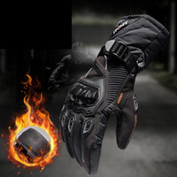 Wholesale motorbike riding gloves resale online - Motorcycle Gloves Waterproof Windproof Winter Moto Gloves Motorbike Guantes Touch Screen Gant Moto Riding