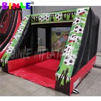 Wholesale games posts for sale - Group buy Portable PVC x12ft inflatable football penalty shootout inflatable soccer goal post kick games target for rental business
