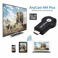 hdmi cast оптовых-Горячая Anycast M2 / M4 / M9plus Chromecast 2 зеркальное отражение нескольких ТВ-брелок Адаптер Мини-ПК Android Chrome Cast HDMI WiFi Dongle 1080 P новейшие