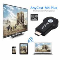 dongle espelho venda por atacado-Hot Anycast M2 / M4 / M9plus Chromecast 2 espelhamento múltipla TV vara adaptador Mini PC Android Chrome Cast HDMI WiFi Dongle 1080P mais novo