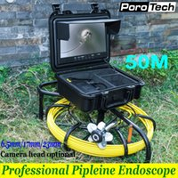 cámaras de video alcantarillado al por mayor-WP9600 6.5 mm / 17 mm / 23 mm Cámara de video subacuática Cable de 50 m Tubería industrial Endoscopio 9