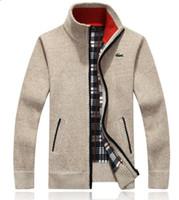 chaquetas de punto para hombres al por mayor-Otoño caliente ventas de diseño de invierno chaquetas de los hombres suéter que hace punto suéter de la capa de lana con cremallera Chaqueta de punto chaqueta invierno ropa para hombre Prendas de punto