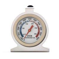 çevirme gıda termometresi toptan satış-Gıda Et Sıcaklık Termometreler Stand Up Dial Dial Termometre Ölçer Gage Paslanmaz Çelik Ölçer Gage Mutfak aracı FFA2127