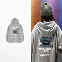 Wholesale cartoon online - Brand New Cartoon Hoodie Kanye West Hip Hop Street Sport Mens Designer Hoodies ss Oversize Loose Fit Pullover Sweatshirt S XXXL