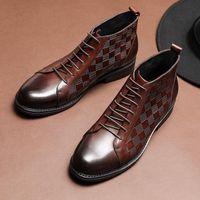 bottes en cuir hommes américains achat en gros de-2019 nouvelles bottes pour hommes en cuir pour les loisirs en cuir, bottes en cuir de vache pour hommes européennes et américaines taille 37-44