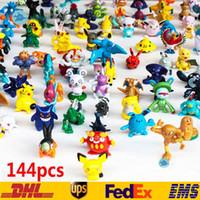 ingrosso figure di 3cm-144 PZ Monster Pikachu Giocattoli PVC Cartoon Cosplay Film Action Figure Decorazione Giocattoli per bambole Bambini Regali per bambini 3CM SZ-T02