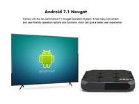 lcd display 16 groihandel-A95X R2 Android 7.1 TV-Box Amlogic S905W 2 GB 16 GB LCD-Display HD 4K 3D WiFi Media Player-Boxen