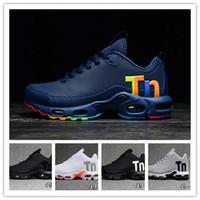 en iyi spor ayakkabıları erkekler toptan satış-En iyi Kalite Mercurial TN Erkek Koşu Tasarımcı Ayakkabı Erkekler TPU Artı Rahat Açık Trainer Spor Nefes Yürüyüş Sıcak Koşu Sneaker 40-46
