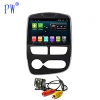 Wholesale car audio dvd head unit resale online - Android Car Radio GPS Navigation Stereo for Clio Head Unit Car Multimedia Audio no CD DVD Player Auto Manual Navi