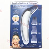 ingrosso nuova macchina facciale della pelle-2019 Nuovo DermaSuction Remover Detergente per pori facciali Estrazione di pori elettrica Estrazione sottovuoto Macchina per la sbucciatura della pelle ricaricabile