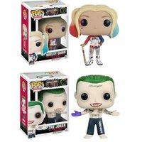 ingrosso modelli di burattini-Adorabile Funko POP Suicide Squad Joker Harley Quinn Deadshot Modello Figura Collection Modello Toy Regali per i bambini