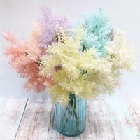 жесткие пластиковые цветы оптовых-Пластик Мягкий Иней Зелень Красочные Hard Rime Plant искусственные цветы 17,72