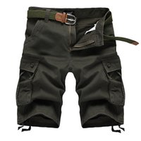 ingrosso pantaloni da lavoro estivo mens-Moda-Estate Mens Army Cargo Work Casual Bermuda Pantaloncini Uomo Classic Pantaloni generali Plus Size Masculina Beach Short Plus 42