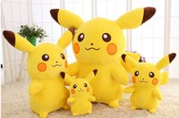 Wholesale birthday pikachu plush resale online - 2019 Wu Yifan Wang Yibo Xiao Zhan Pikachu Dude Plush Toy Big Creative Doll Girlfriend Birthday Gift