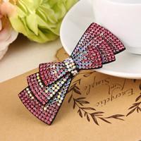 Wholesale ponytail korean women for sale - Group buy Fashion Women Ponytail Holder Hair Pins Korean Simple Crystal Rhinestone Hair Clips Girl Cute Full Diamond Accessories