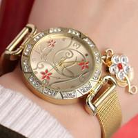 coruja relógio mulher venda por atacado-Aço inoxidável INAVE Marca Owl pendente relógio de pulso mulheres relógios de quartzo Mesh Belt pulso Ladies Moda Feminina Relógio GINAVE Marca Ow ...