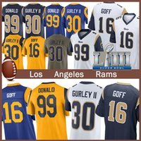 Wholesale football jerseys 99 for sale - Group buy 99 Aaron Donald Los Angele Jersey Ram Todd Gurley II Jared Goff Eric Weddle Football Jerseys new cheap men