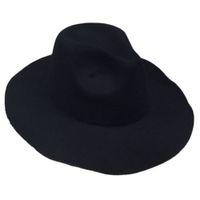 bayanlar tıkanır toptan satış-Yüksek Kalite Yeni Kadın Lady Casual Moda Vintage Retro Yün Disket Geniş Brim Cloche Düz Şapka Kap Kadın