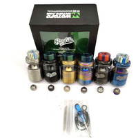 Wholesale best rta atomizer for sale - Group buy Best Profile Unity RTA Atomizer Vapor Tank Thread Resin Drip Tip Top Filling with Mesh Coils DHL Free
