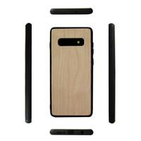 ingrosso paraurti in legno-Custodia in legno massello ecologico per Samsung Galaxy S10 S10lite S10 PLUS s10e Custodia per cellulare in legno Bamboo TPU morbido Paraurti antiurto