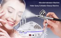 mikrodermabrasion vakuum-spritzmaschine großhandel-Neueste Schönheit Maschine Diamant Microdermabrasion Dermabrasion Maschine mit Spritzpistole Wasser-Spray-Vakuumsauger Exfoliation Gesichtsmassage