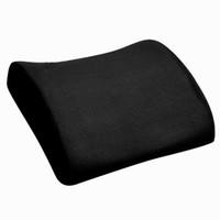 almohada de espuma de memoria de apoyo lumbar al por mayor-Almohada del amortiguador de la ayuda del respaldo lumbar de la silla del asiento de la espuma de la memoria para el negro del hogar de la oficina