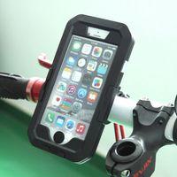 motorradhalterung iphone fall großhandel-Motorrad fahrrad lenkerhalterung für apple iphone x / xs / xr / xs max wasserdichtes gehäuse tough case fahrrad handyhalter