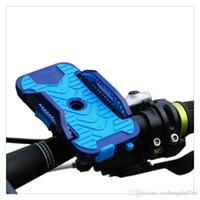 porta-telemóveis para bicicletas venda por atacado-New Universal Mountain Bicicleta Da Bicicleta Da Motocicleta Montar Bicicleta Guidão Titular Telefone Celular Amarelo Azul Frete Grátis por atacado