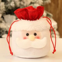 Wholesale christmas present bags resale online - Christmas Candy Party Santa Gift Bag Decorations Xmas Storage Packing Wrapper Supplies Decor Gift Christmas Tree Presents Navidad