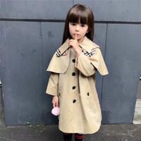 vestido de jeans para niña de niños al por mayor-ropa de diseñador para niños abrigos de lujo bebés niñas vestidas trinchera chaqueta de moda poncho veste en jean bébé fille niñas pequeñas