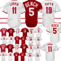 Wholesale red barry for sale - 19 Joey Votto Cincinnati Reds Baseball Jersey Barry Larkin Johnny Benc Chris Sabo Pete Rose Jerseys Adult shirt