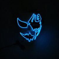 Wholesale Highlight EL cool light bar night scene fluorescent MASK makeup party luminous hand painted MASK EL MASK