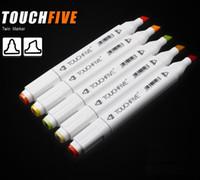 crayon de couleur achat en gros de-Marqueurs Barre de couleur Copic Sketch Ensembles de marqueurs Touch Twin Marker Coloring Permanent Marker Sketch 168 Couleurs