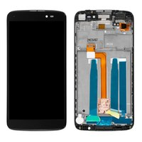 Wholesale one touch alcatel lcd screen resale online - LCD Screen and Digitizer Full Assembly with Frame for Alcatel One Touch Idol LTE