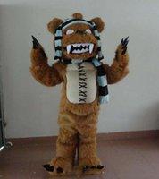 ursinho de pelúcia venda por atacado-Urso de Halloween Zombie Mascot Costume Dos Desenhos Animados de Alta Qualidade Ursinho de pelúcia monstro Anime tema caráter Carnaval de Natal Fantasia Trajes