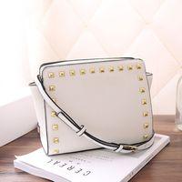 ingrosso borse da disegno modello-Produttori di lusso all'ingrosso borse di lusso di design borse rivetto croce tracolla modello pu borse donne borse