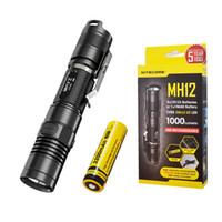 Wholesale u2 flashlight resale online - Nitecore MH12 CREE XM L2 U2 LED Rechargeable Flashlight Lumens
