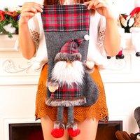 ingrosso lunghe gambe di calze-Grande Lunghi bambola della peluche di Leg Bambola Calza della Befana 3D regalo di Natale Borse Wall Hanging Stocking Xmas Tree Ornament 6 Pezzi ePacket