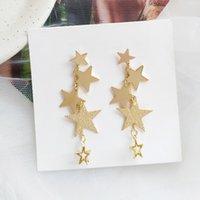 jewlery ohrringe großhandel-Gold Farbe gehämmert Stern Ohrclips kein Loch täglich glänzend Ohrclips Jewlery