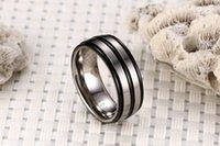 caixa do anel masculino venda por atacado-(Sem caixa) TR Anel De Fibra De Carbono Para O Homem Gravado Árvore Da Vida Aliança Masculina de Aço Inoxidável Casuais Personalizar Jóias