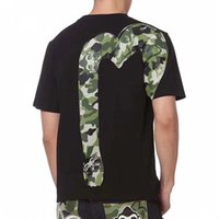 Wholesale top tee brand t shirts online - Summer fashion brand tag men s cotton short sleeved printed T shirt green camouflage print pattern men s T shirt top tees