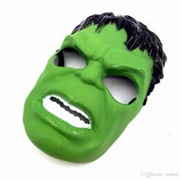 Wholesale avengers masquerade masks resale online - New Marvel The Avengers Green Hulk Masks Helloween Cosplay Masquerade Masks Party Mask Toys Justice League Birthday Favors Toys Xmas Gift