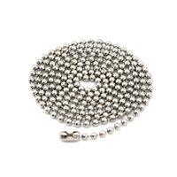 ingrosso modelli catena di perle-200 pz / lotto, Placca Non-fading Collane Catena di perline fai da te Sicurezza senza stimolazione Brillante 3 colori Catena pendente Modello 60 cm * 2,2 mm