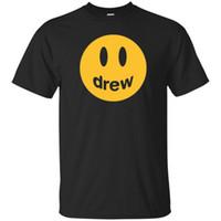 домашние хлопчатобумажные футболки оптовых-Черный Drew House Джастин Бибер Mascot Футболка Хлопок Мужчины S-6XL США Поставщик HOT