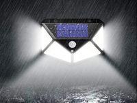 modèles de lampadaires achat en gros de-3 Modèle 100LED PIR Capteur De Mouvement Lumière Extérieure Energie Solaire Mur Lampes À La Maison Jardin Jardin Sécurité Street Light Led Night Light LLFA