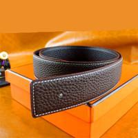 ingrosso h lettere-Cintura in pelle moda per uomo e donna semplici lettere joker liscia fibbia G H marchio cintura per il tempo libero Scatola di marca + fattura