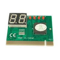 isa motherboards großhandel-karierte PC PCI-Diagnosekarte Motherboard Analyzer Tester Beitrag Analyzer Checker Computeranalyse PCI POST-Karte Motherboard 2-Digit
