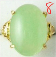 Wholesale brass ring price resale online - Jewelryr Jade Ring price new Hand Carvings Green stone Ring