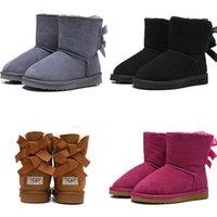 erkek çizmeler moda toptan satış-2020 tasarımcı WGG Avustralya Klasik çocuklar ayakkabı kar botları en Kaliteli erkek kız kış moda sıcak tutmak ayak bileği 26-35